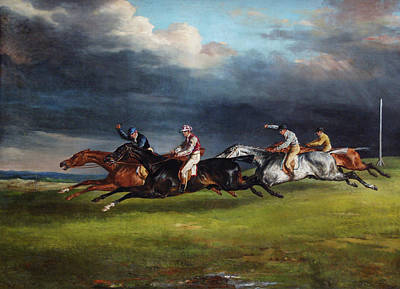 Race Painting - The Epsom Derby by Theodore Gericault