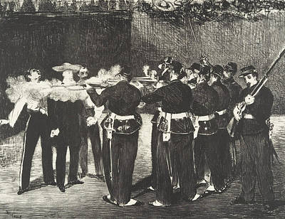 Relief - The Execution Of The Emperor Maximilian by Edouard Manet