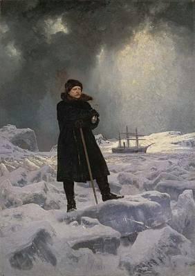 Rosen Painting - The Explorer Adolf Erik Nordenskiold by Georg von Rosen
