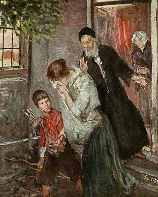 1890 Houses Painting - The Expulsion Of Hagar by MotionAge Designs