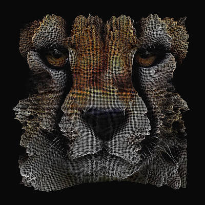 Digital Art - The Face Of A Cheetah by ISAW Gallery