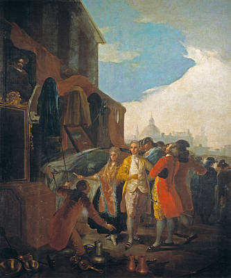 People Painting - The Fair In Madrid by Francisco Goya