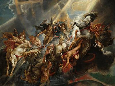 The Fall Of Phaeton Art Print by Peter Paul Rubens