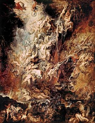 Print featuring the painting The Fall Of The Damned by Peter Paul Rubens