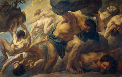 Moral Painting - The Fall Of The Giants by Jacob Jordaens