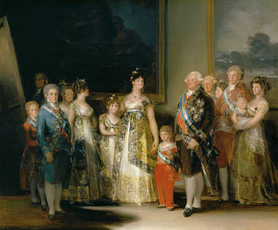 Teenager Painting - The Family Of Carlos Iv by Francisco Goya