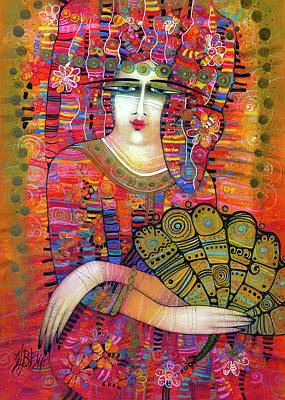 Painting - The Fan by Albena Vatcheva