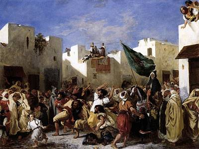The Fanatics Of Tangier Art Print by Eugene Delacroix