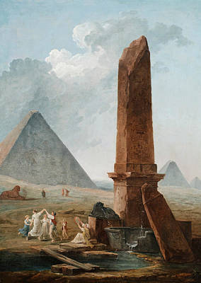 Painting - The Farandole Amidst Egyptian Monuments by Hubert Robert