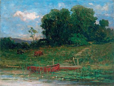 The Farm Landing Art Print by Edward Mitchell Bannister