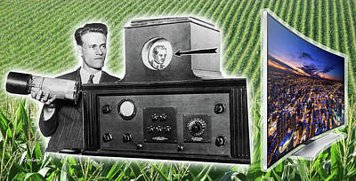 Electronics Mixed Media - The Father Of Modern Television by Garland Johnson