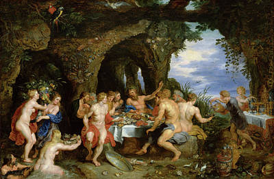 Eating Painting - The Feast Of Achelous by Peter Paul Rubens