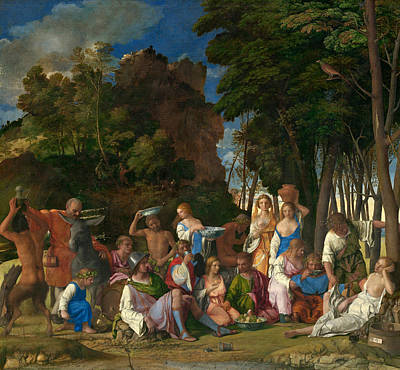 Painting - The Feast Of The Gods by Giovanni Bellini and Titian