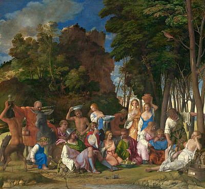 Italy Painting - The Feast Of The Gods by Giovanni Bellini