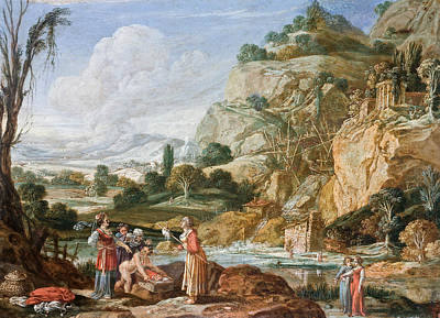 Moses Painting - The Finding Of Moses by Bartholomeus Breenbergh