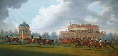 Race Horse Painting - The Finish Of The St. Leger Stakes by Clifton Tomson
