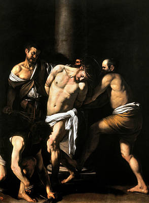 Flagellation Painting - The Flagellation Of Christ by Caravaggio