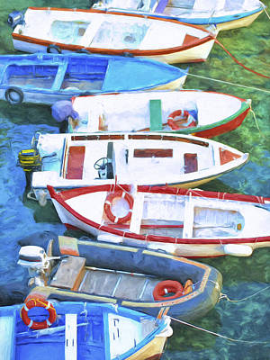 Portofino Italy Painting - The Fleet by Dominic Piperata