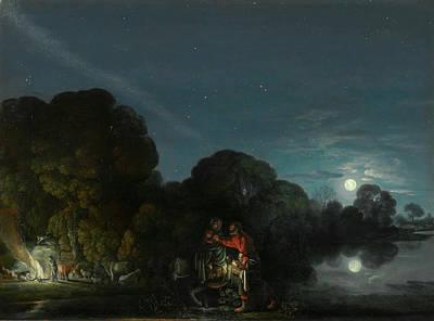 Adam Painting - The Flight Into Egypt by Adam Elsheimer