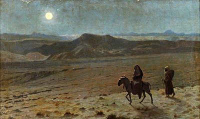 Jean-leon Gerome Painting - The Flight Into Egypt by Jean-Leon Gerome