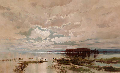 Australian Landscape Painting - The Flood In The Darling 1890 by William Charles Piguenit