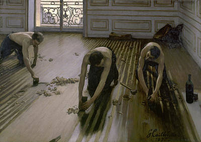 Caillebotte Painting - The Floor Scrapers by Gustave Caillebotte