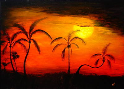 Painting - The Florida Sun by Monty Perales