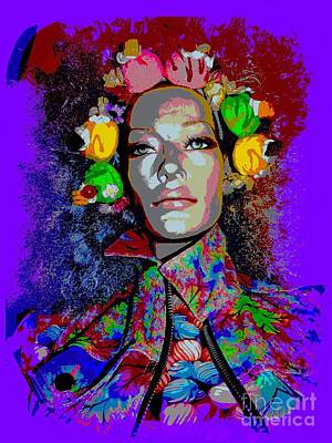 Mixed Media - The Flower Girl by Ed Weidman