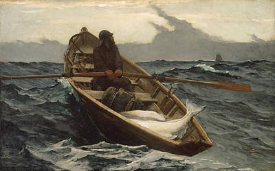 Boston Painting - The Fog Warning - 1885 by Winslow Homer