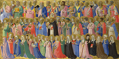 Digital Art - The Forerunners Of Christ With Saints And Martyrs by Fra Angelico