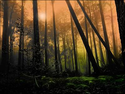 Magic Photograph - The Forest Of Faunus  by Daniel  Arrhakis