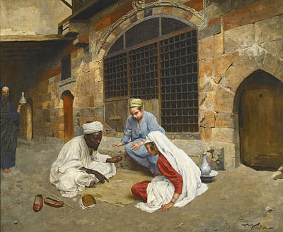 Painting - The Fortune Teller Of Cairo by Franz Kosler