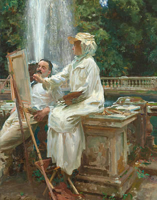 The Fountain Villa Torlonia Frascati Italy Art Print by John Singer Sargent
