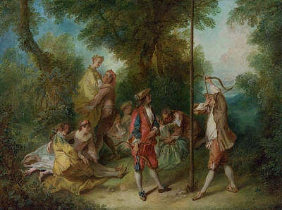 Parable Painting - The Four Ages Of Man - Maturity by Nicolas Lancret