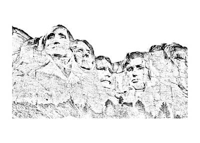 The Four Presidents Art Print