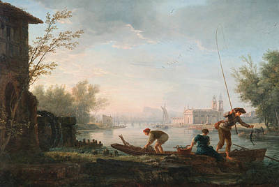 Painting - The Four Times Of Day - Morning by Claude-Joseph Vernet