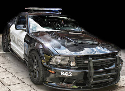Police Cruiser Photograph - The Fuzz by Martin Newman
