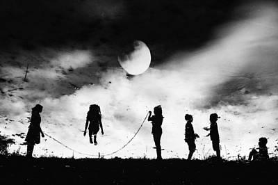 Shadows Photograph - The Game High Jump by Jay Satriani