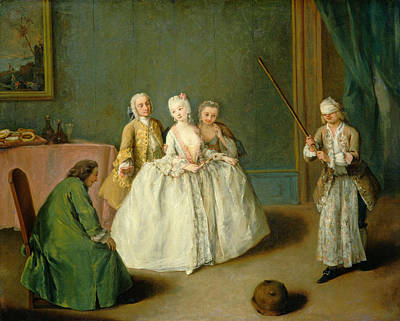 Pietro Longhi Painting - The Game Of The Cooking Pot by Pietro Longhi