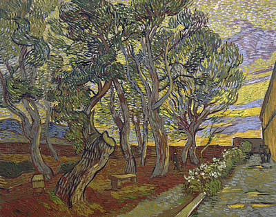 Garden Mountain Painting - The Garden Of Saint Paul's Hospital by Vincent van Gogh