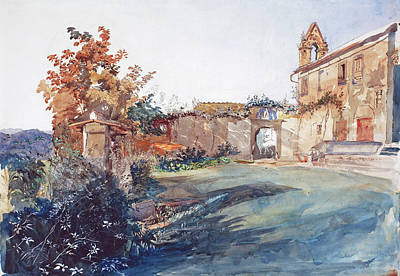 Painting - The Garden Of San Miniato Near Florence by John Ruskin
