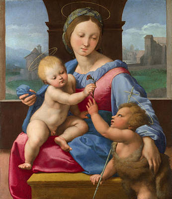 Baptism Painting - The Garvagh Madonna by Raffaello Sanzio