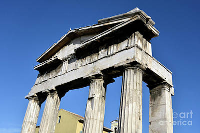 Photograph - The Gate Of Athina Archegetis In Roman Market by George Atsametakis