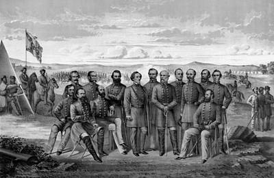 The Generals Of The Confederate Army Print by War Is Hell Store