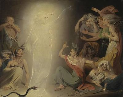 The Ghost Of Clytemnestra Awakening The Furies Art Print by Mountain Dreams