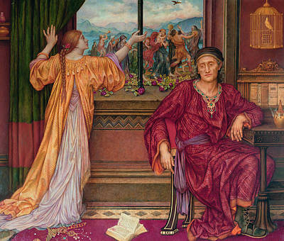 Cage Painting - The Gilded Cage by Evelyn De Morgan