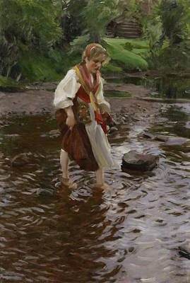 Anders Zorn Painting - The Girl From Alvdalen by Anders Zorn