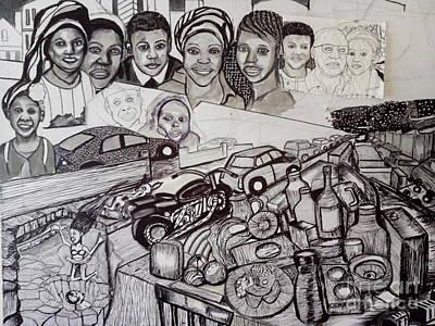 Drawing - The Glad Tidings Of Saint Davids Road - Northampton by Mudiama Kammoh