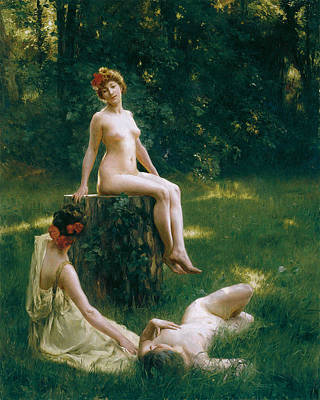Clearing Painting - The Glade by Julius LeBlanc Stewart