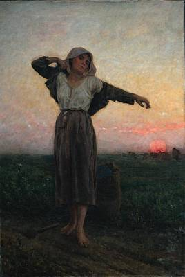 The Gleaners Painting - The Gleaner by Jules Breton